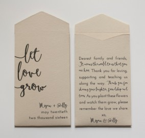 Custom Seed Packets Wedding Favors