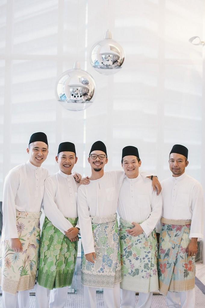 Malaysian Groomsmen - Cultural wedding