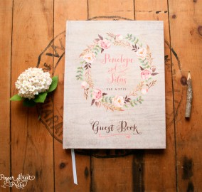 Rustic Bohemian Wedding Guest Book
