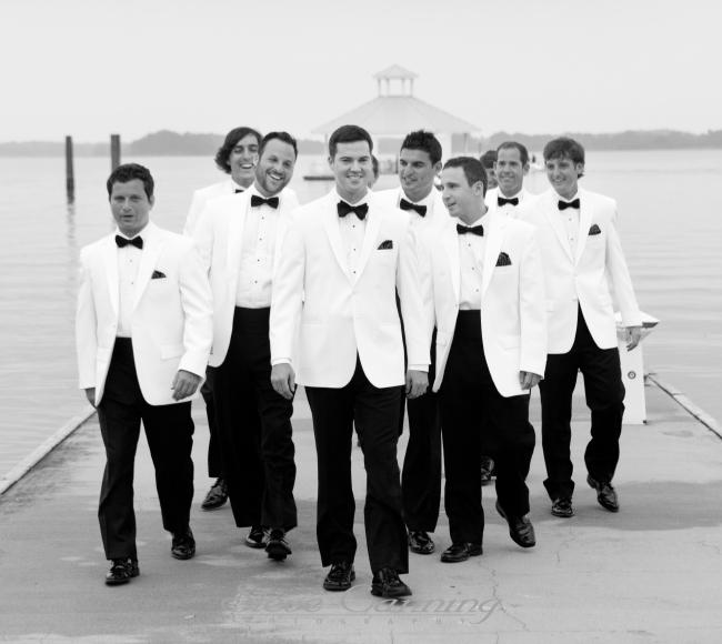 Steve Canning Photography - White Tuxedo Groomsmen