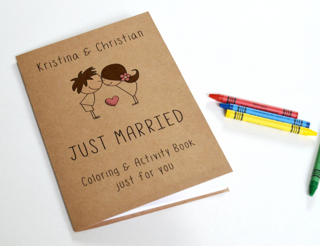 coloring and activity book for children at wedding
