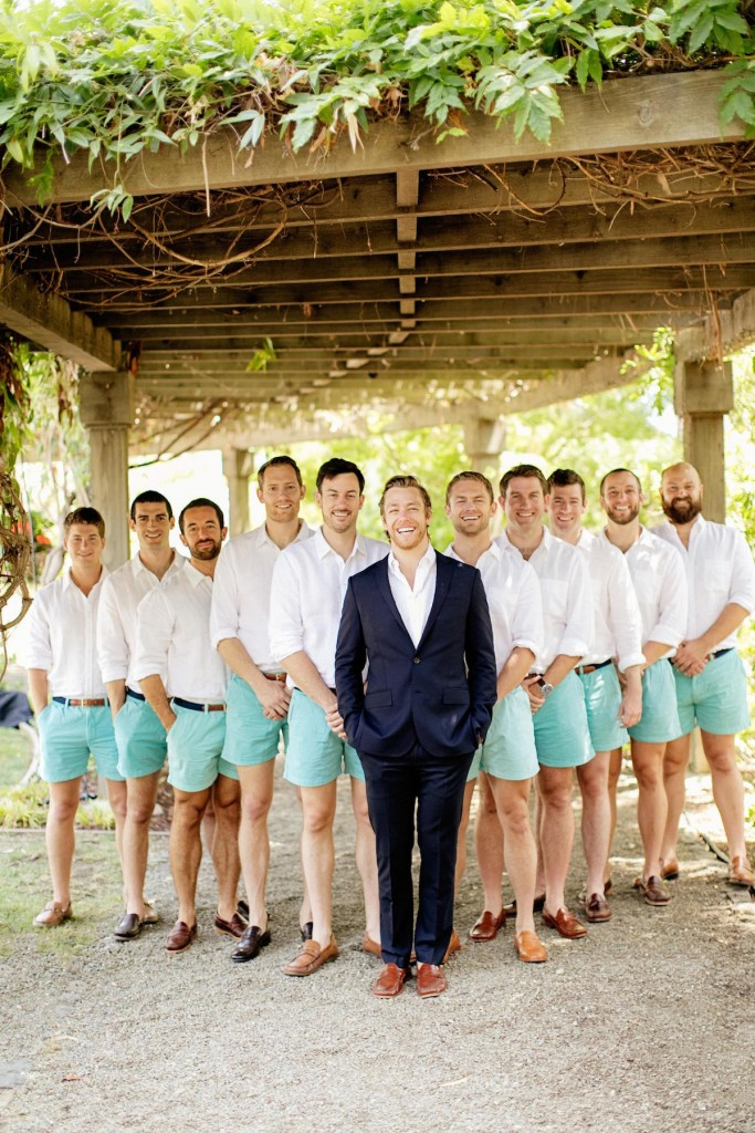 groomsmen in shorts by chubbies shorts- chardphoto
