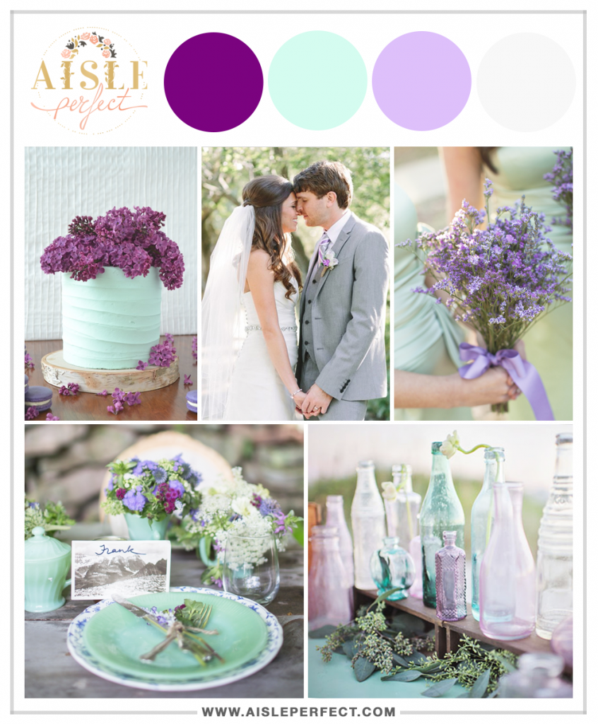 mint and raspberry wedding inspiration