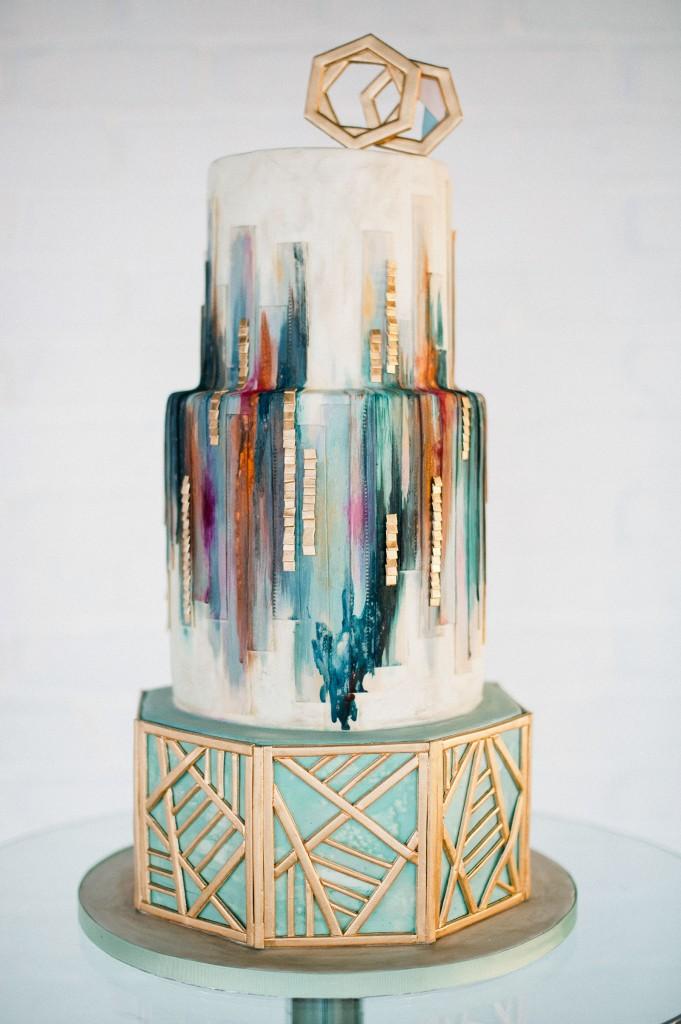 olofson design watercolor cake