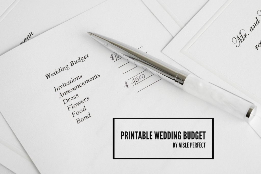 printable wedding budget _ aisle perfect