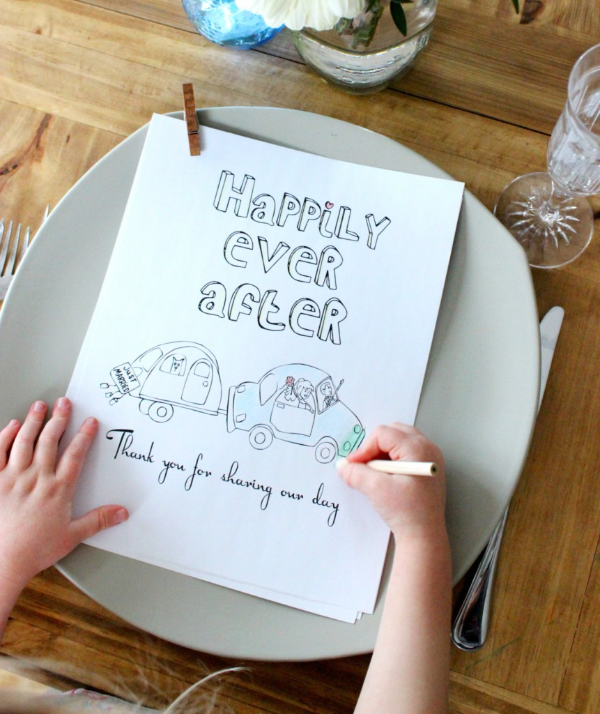 wedding coloring book for children