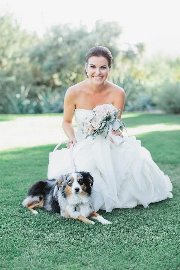 BRIDE with her dog _AndrewJadePhotography