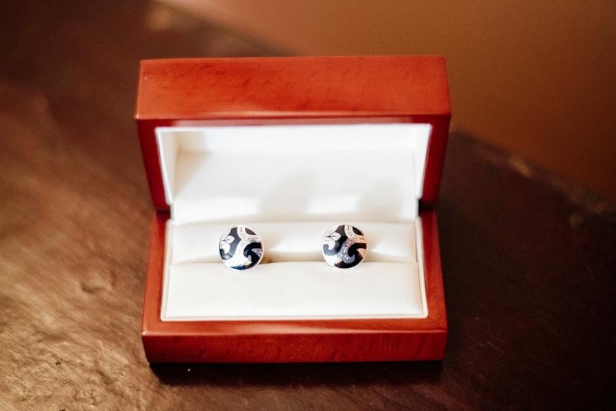silver cufflinks - sarah maren photography