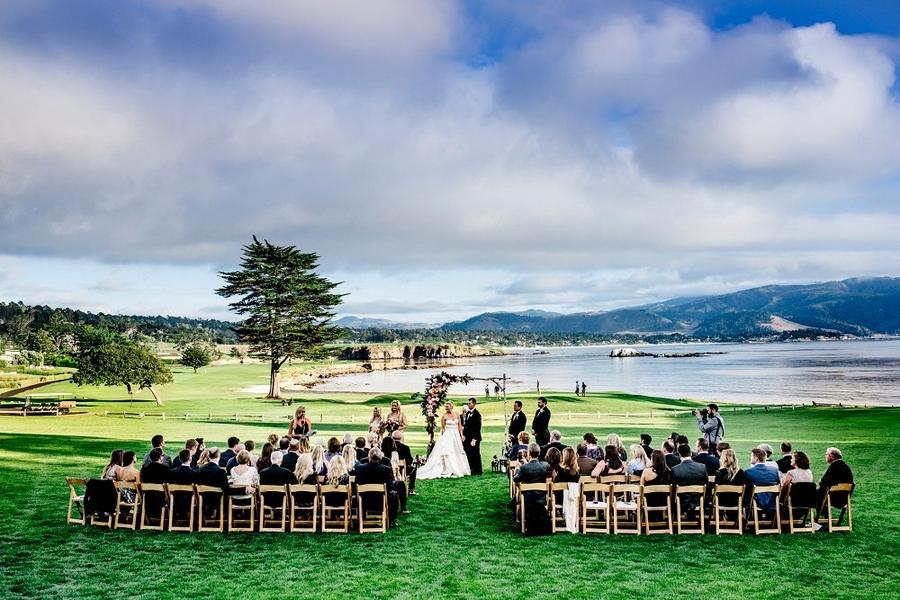 outdoor beach resort wedding by Sarah Maren Photography