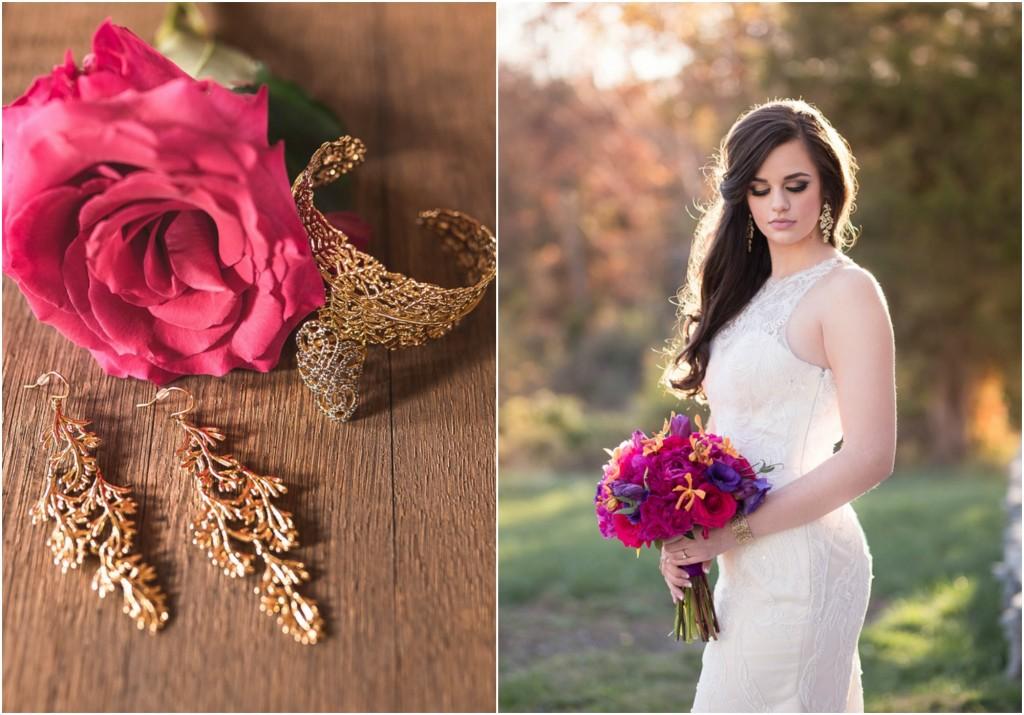 Purple orange and gold wedding inspiration