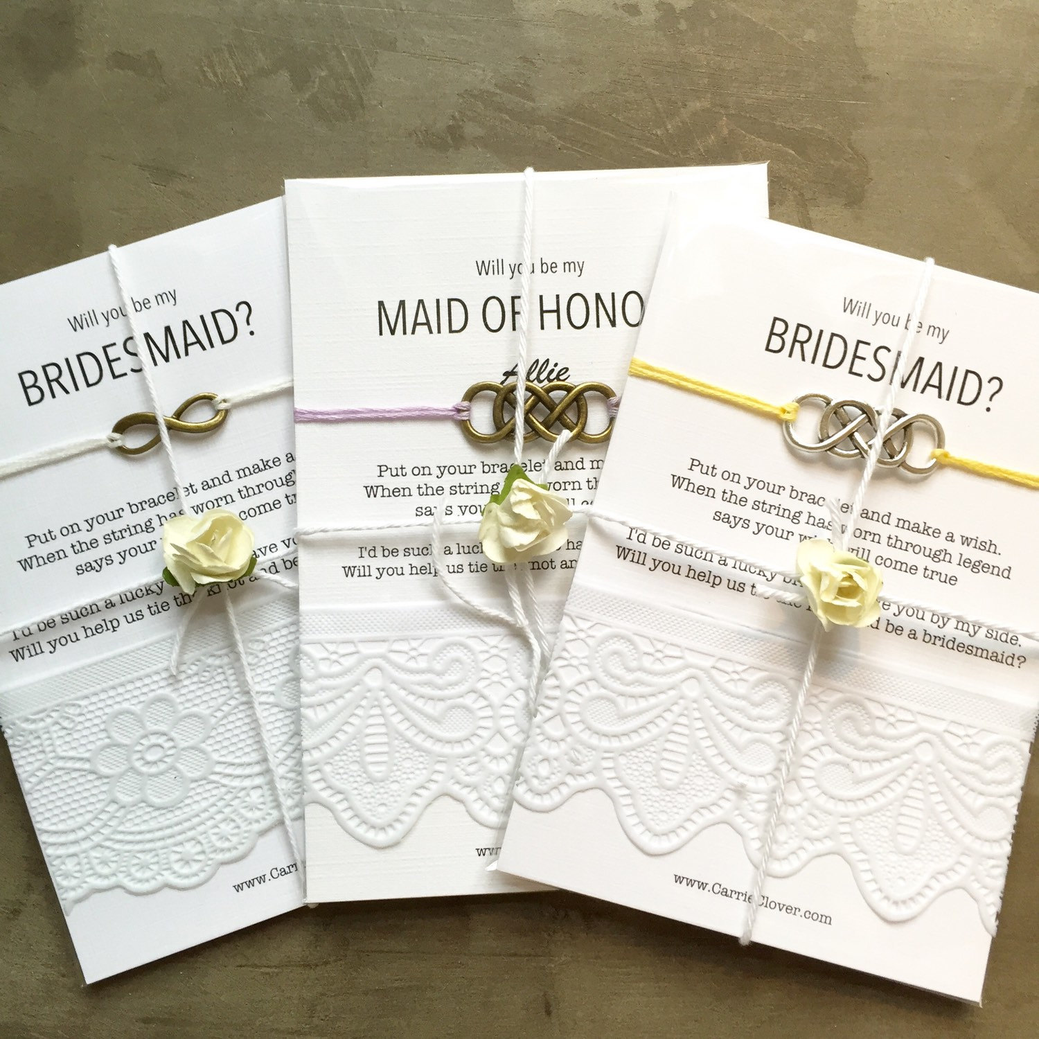 will you be my bridesmaid bracelets
