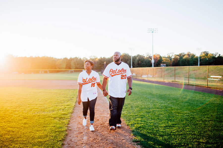 baseball themed engagement shoot by Hannah Lane 7