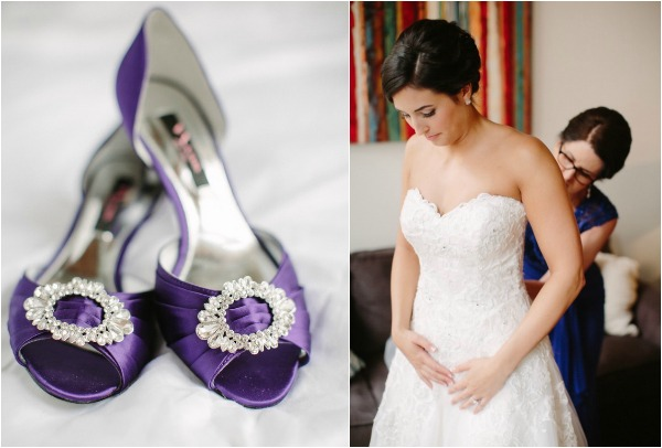 black tie purple wedding- purple shoes