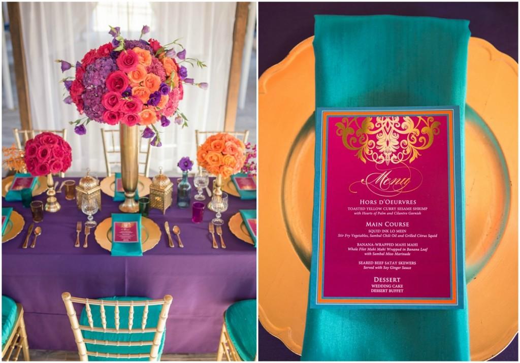 fuchsia and orange wedding inspiration by naturalbliss