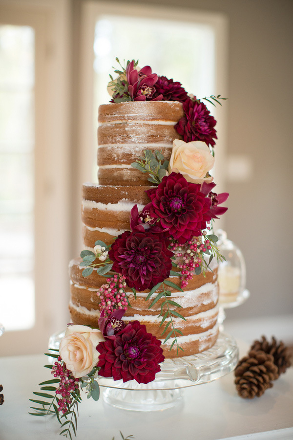 naked wedding cake - 2016 trend