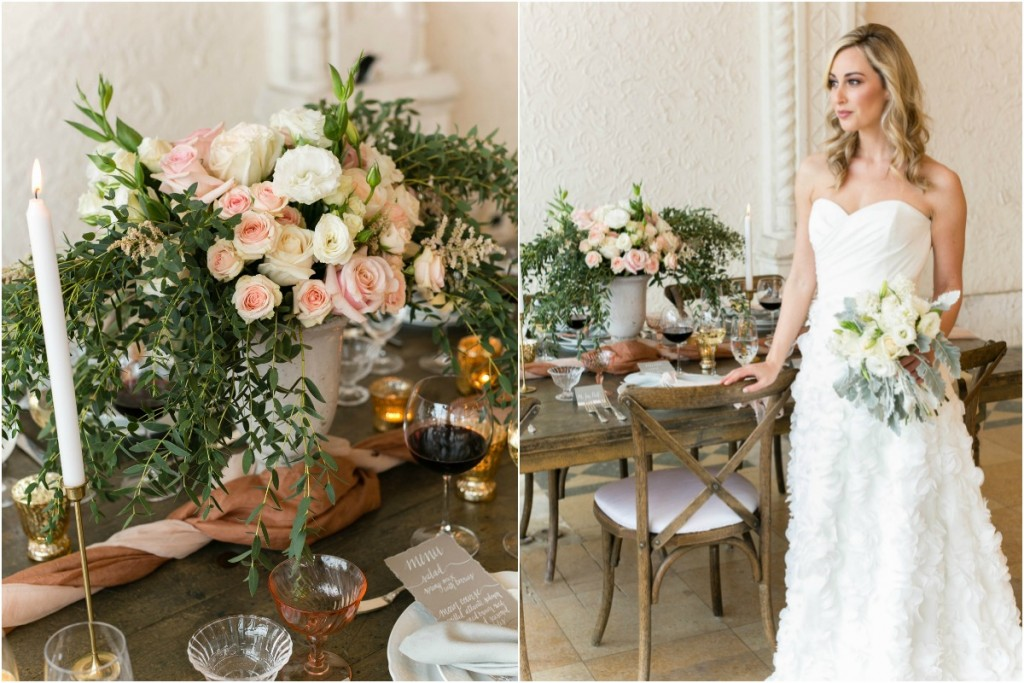 rustic wedding inspiration by aisle society