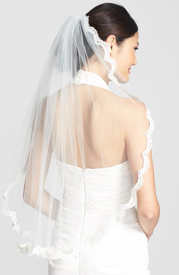 lace border veil
