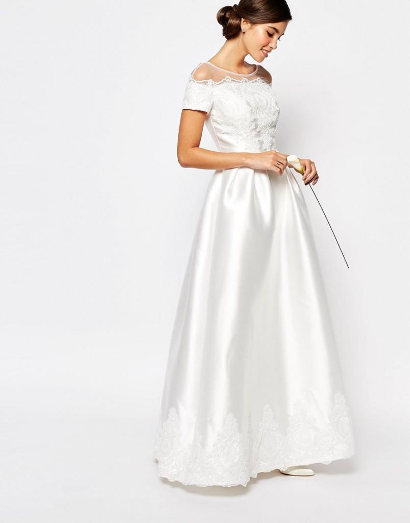Chi Chi London satin wedding dress