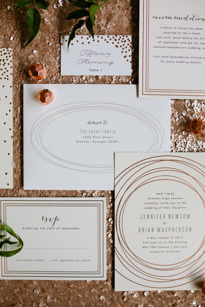 Mint and Gold Party Inspiration with Minted 3
