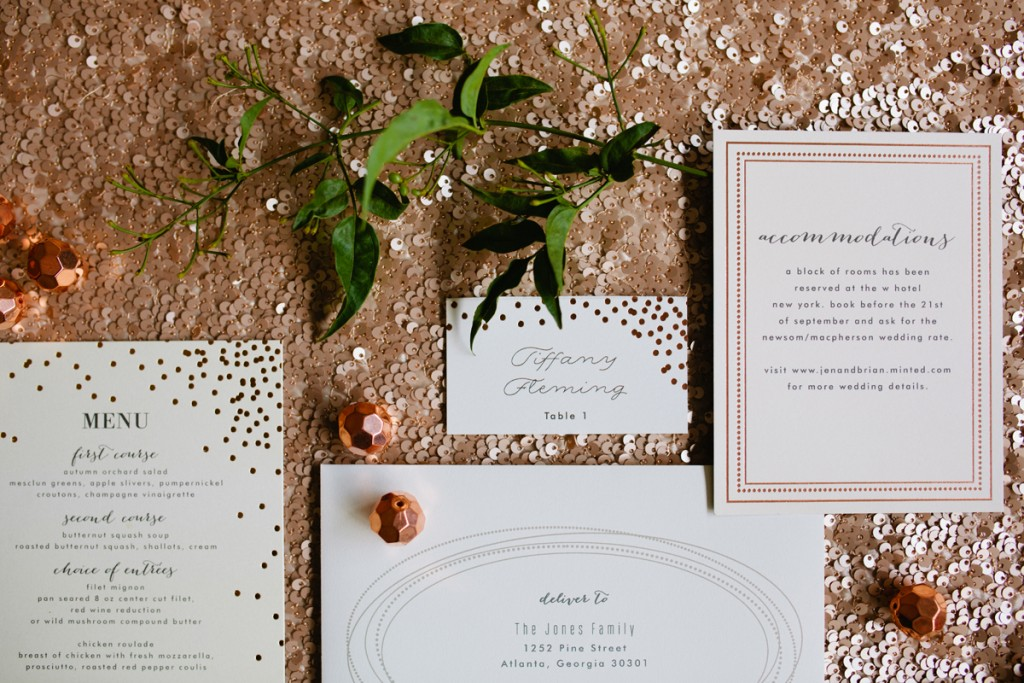 Mint and Gold Party Inspiration with Minted 5