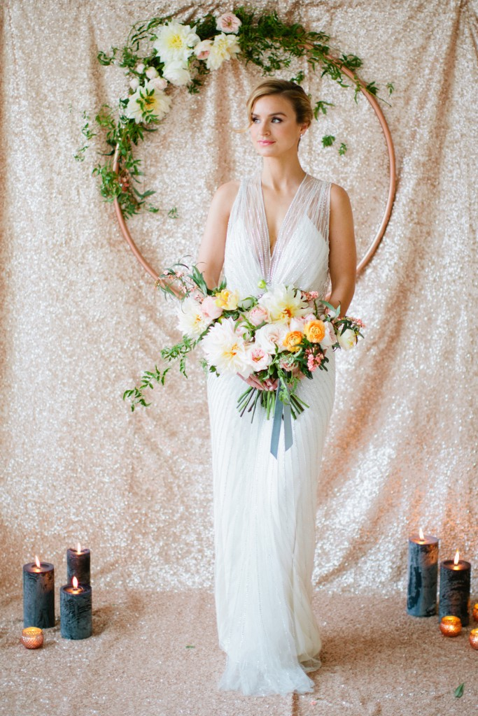 Rustic Glam Mint and Gold Wedding Inspiration with Minted 55