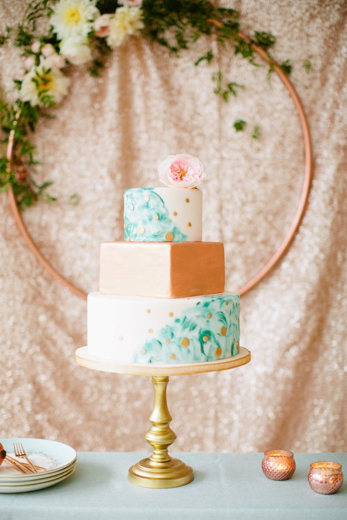 Rustic Glam Mint and Gold Wedding Inspiration with Minted 71
