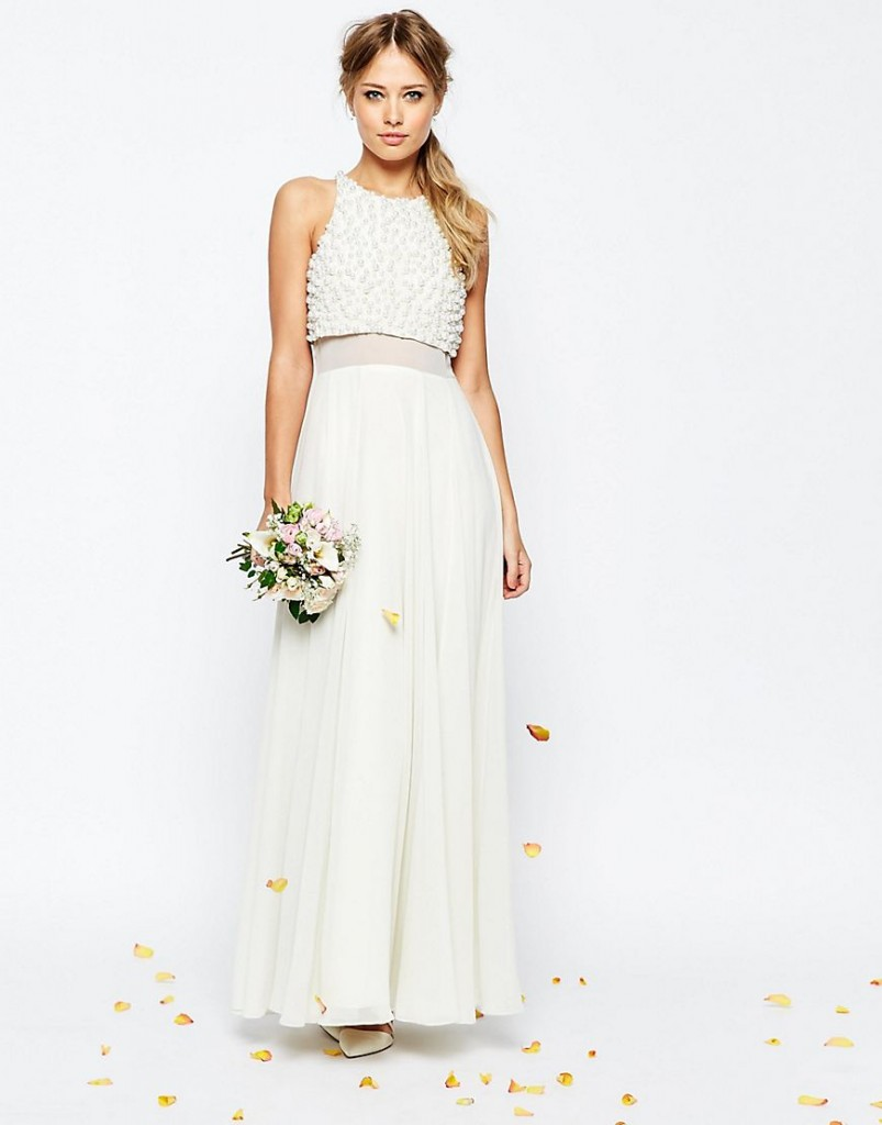 asos wedding gown