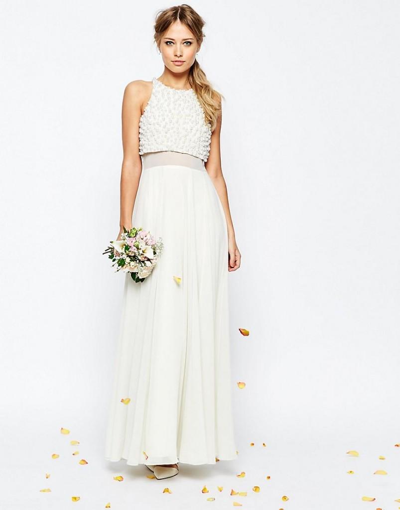 asos wedding gown