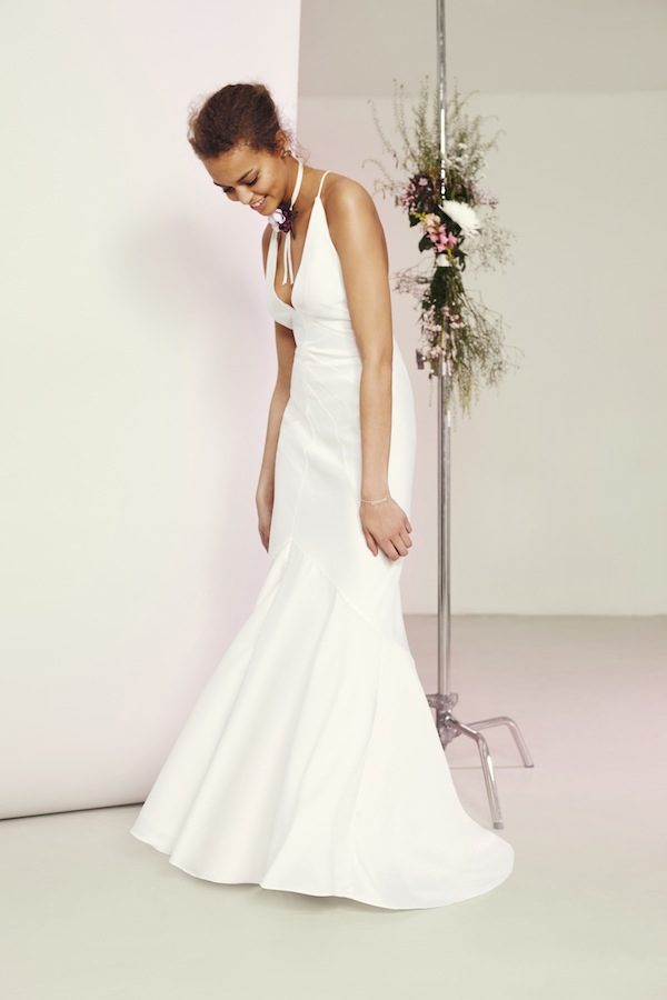 asos plunge neckline wedding dress