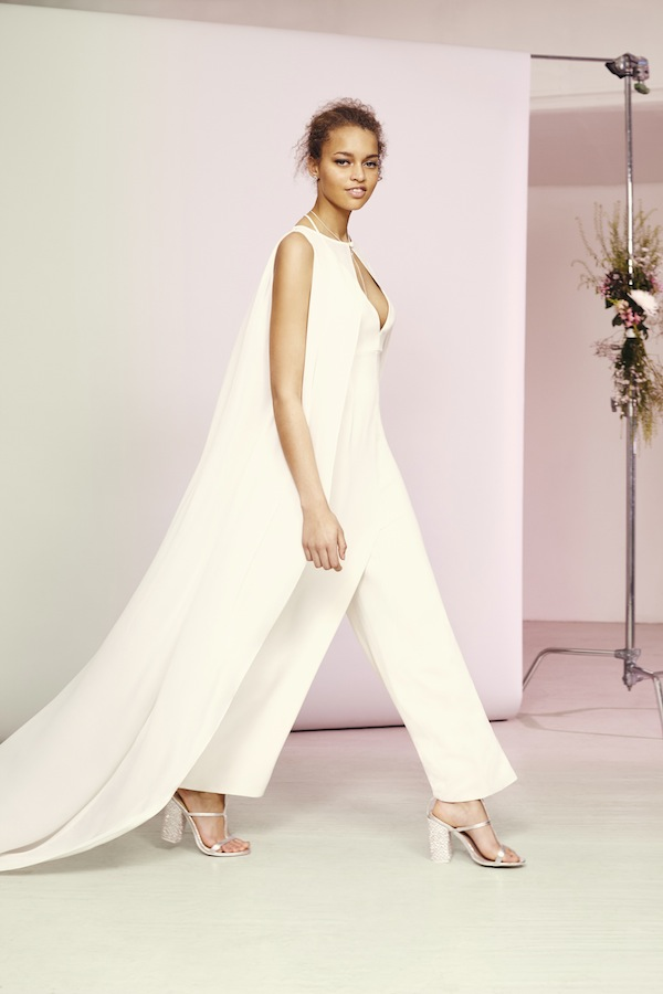 asos wedding cape jumpsuit from the new shop