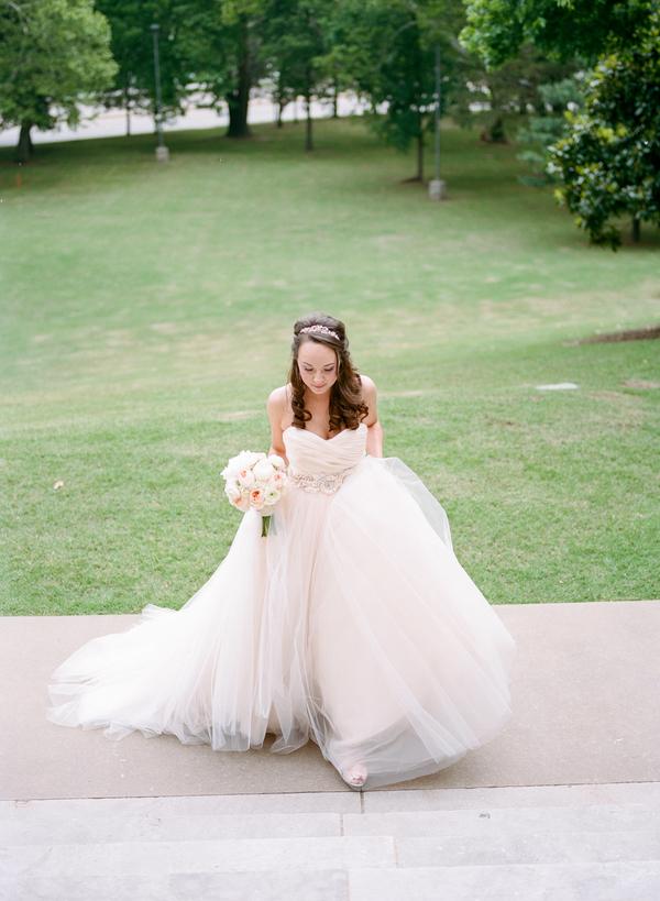 blush and gold wedding at Harwelden mansion 10