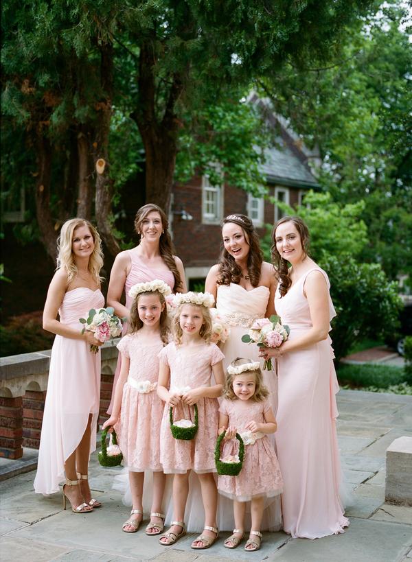 blush and gold wedding at Harwelden mansion 17