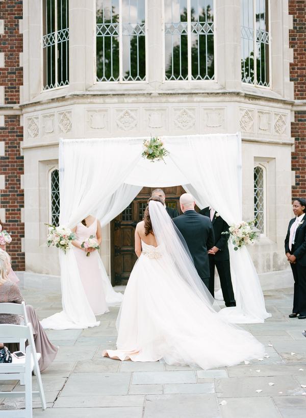 blush and gold wedding at Harwelden mansion 23
