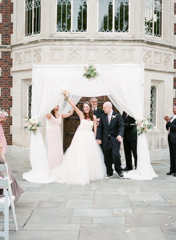 blush and gold wedding at Harwelden mansion 24