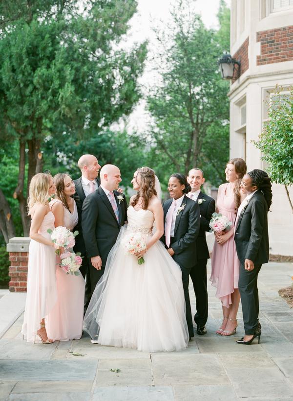 blush and gold wedding at Harwelden mansion 25
