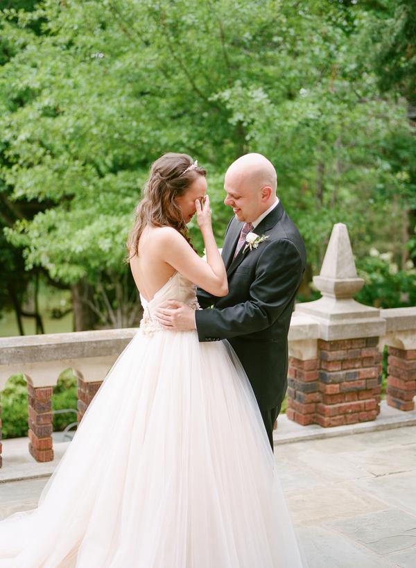 blush and gold wedding at Harwelden mansion 7