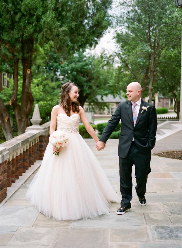 blush and gold wedding at Harwelden mansion 9