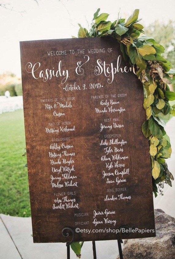 custom wedding calligraphy program
