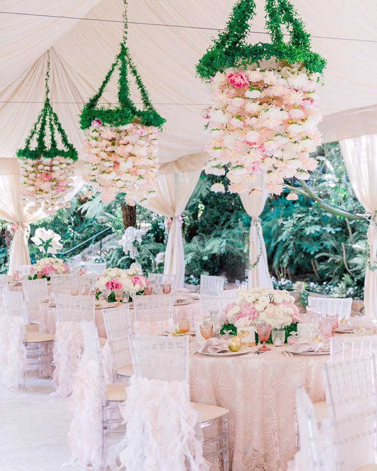 hanging garden wedding decor