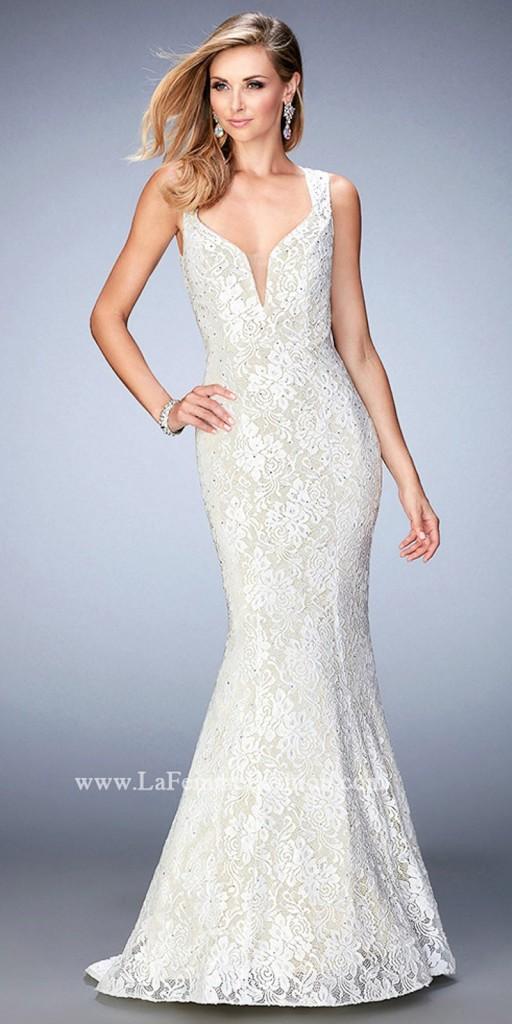 lace open back wedding dress under 500