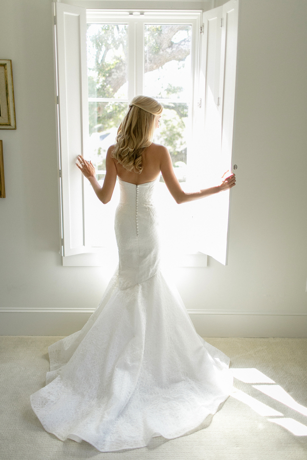 outdoor new orleans wedding- wedding dress window shot