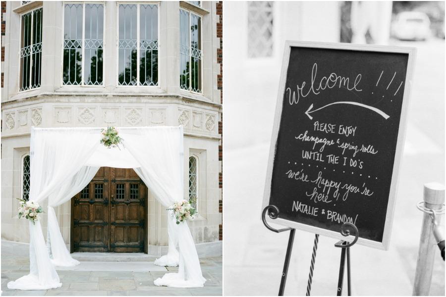 real blush mansion wedding