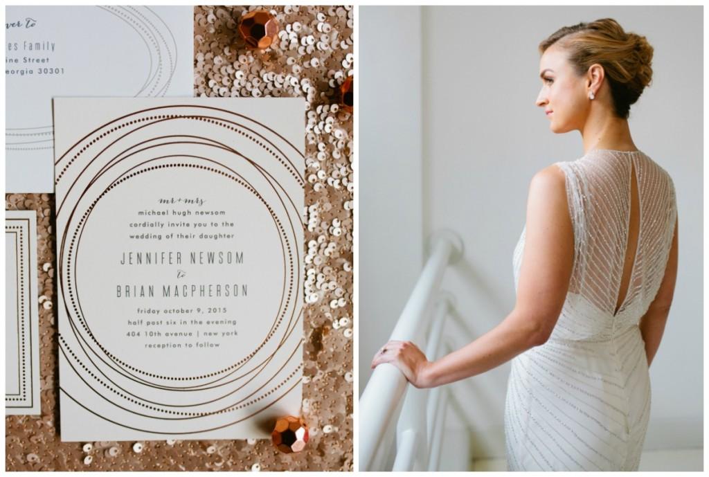 rose gold wedding invitations