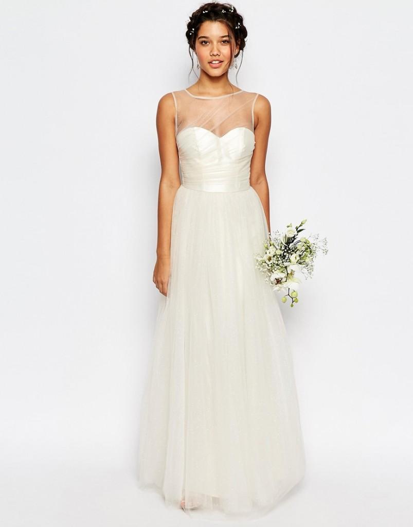 wedding dress under 500 dollars- asos wedding shop