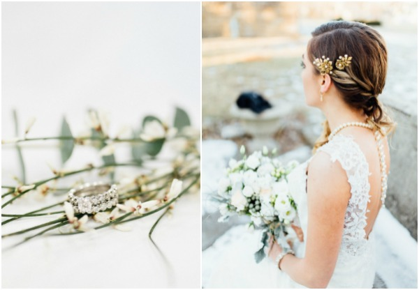 winter mansion styled shoot