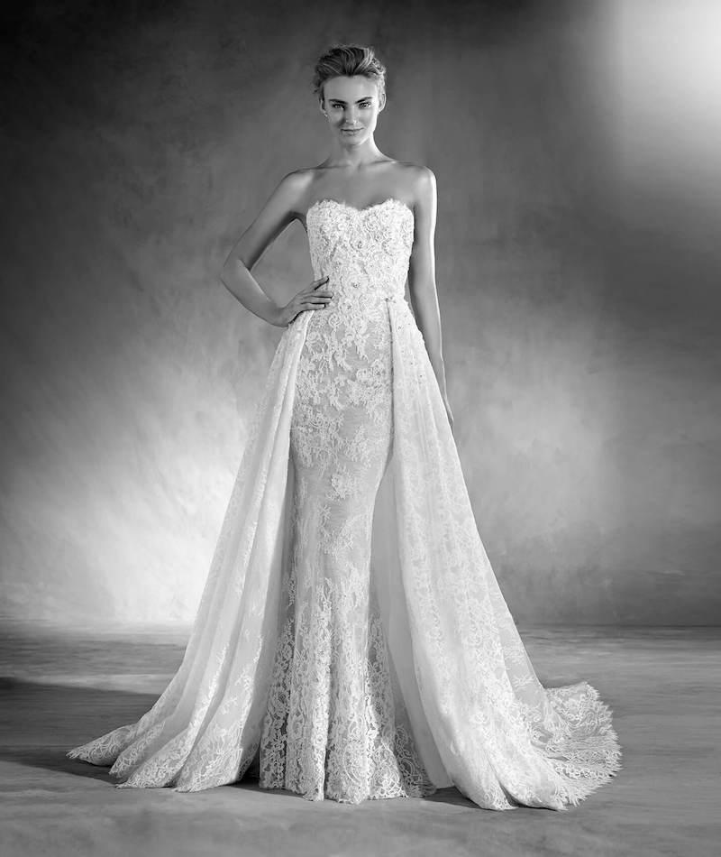 Atelier Pronovias Edith Overskirt wedding dress