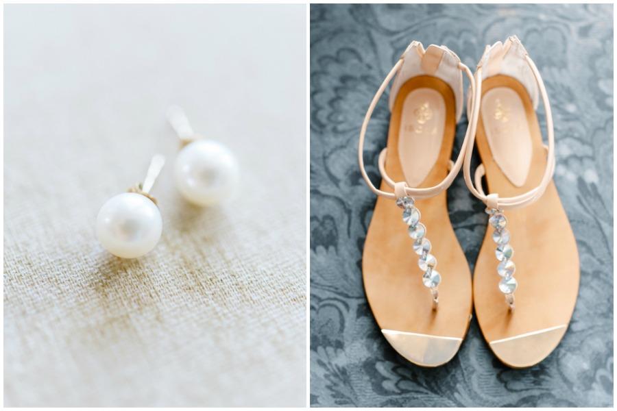 Flat wedding shoes - sandals