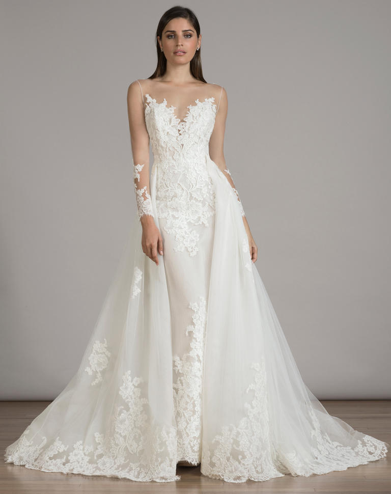 15 Pretty Perfect Overskirt Wedding Dresses Aisle Perfect