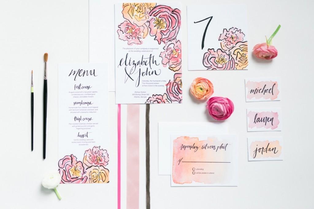Spring Watercolor Wedding Inspiration 20