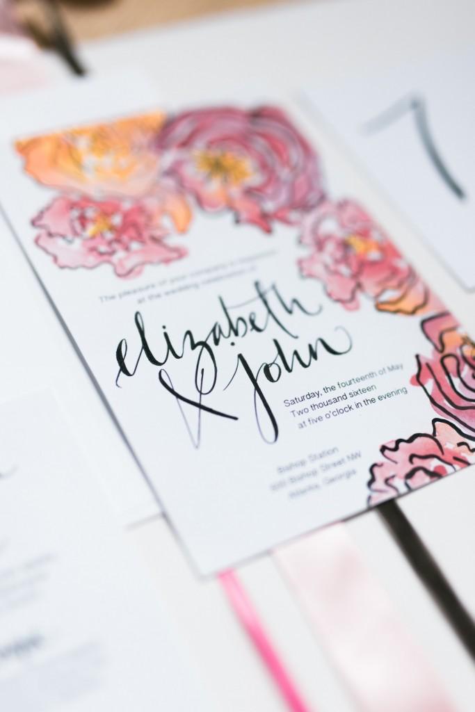 Spring Watercolor Wedding Inspiration 22